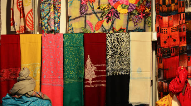 the colors of the oriental fabrics