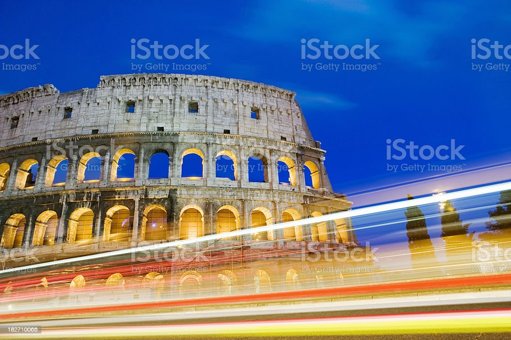 The Colosseum in Rome Italy stock photo