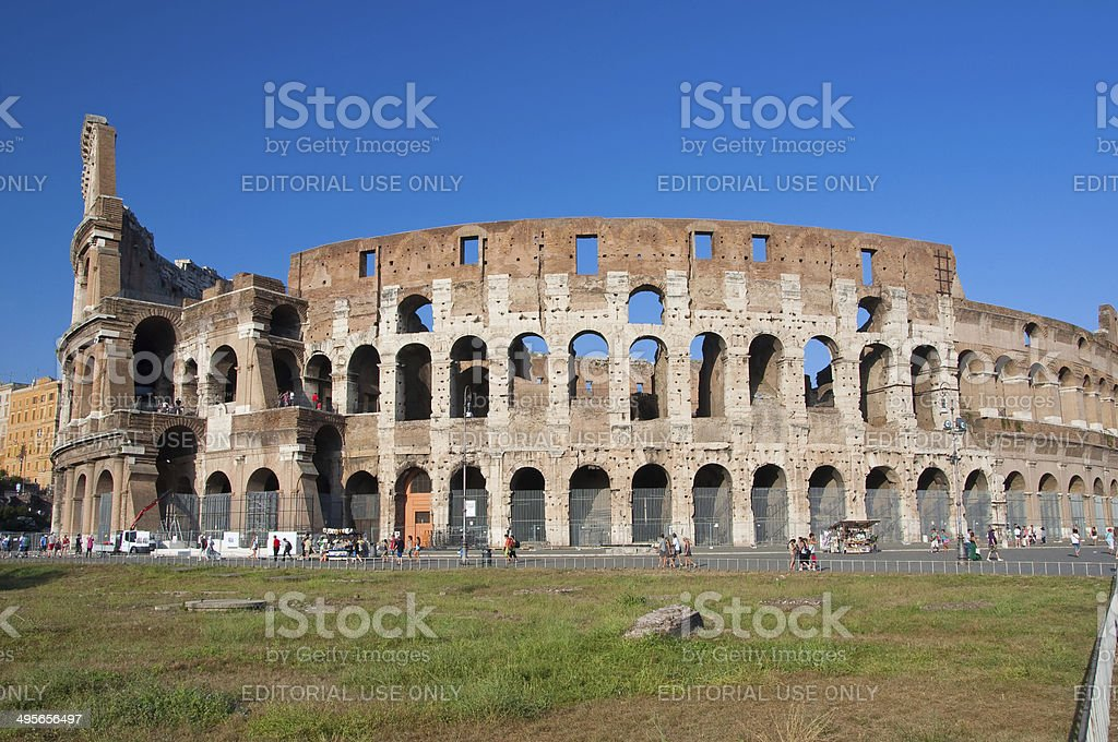 The Colosseum in Rome, Italy. royalty-free stock photo