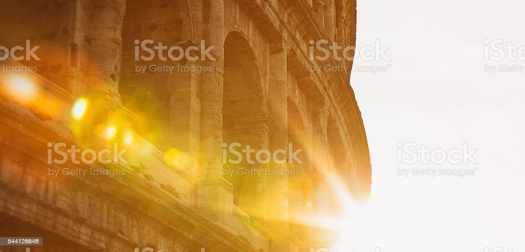 The Colosseum in Rome, Italy stock photo