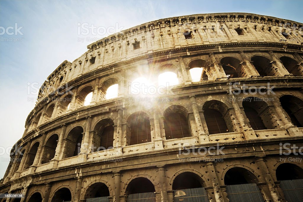 The Colosseum in Rome royalty-free stock photo