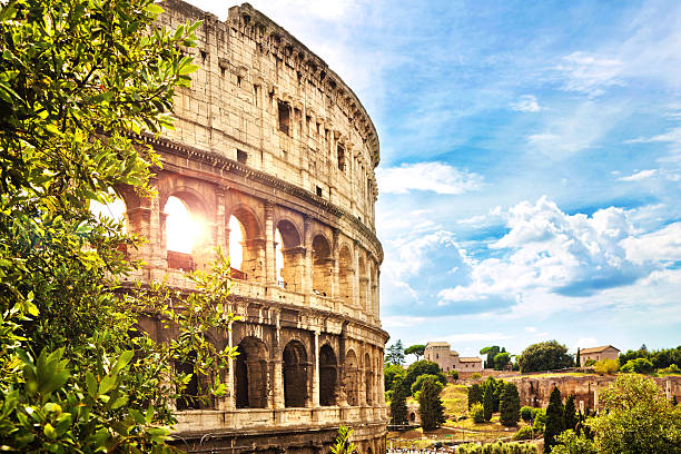 The Colosseum in Rome The Colosseum coliseum rome stock pictures, royalty-free photos & images