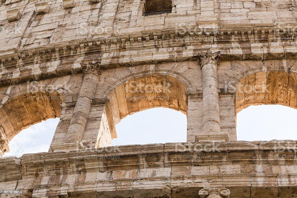 The Colosseum in Rome stock photo