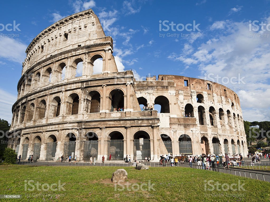 the Colosseum royalty-free stock photo