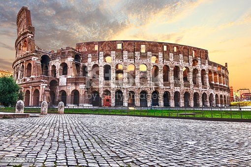 The Colosseum, view from the Arch, Rome, Italy