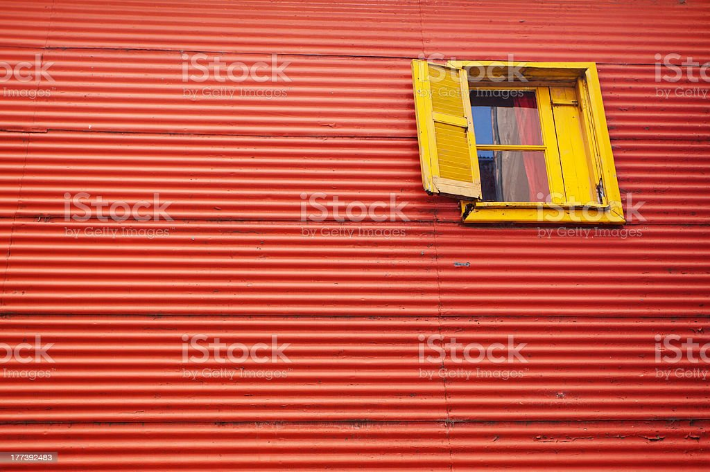 The colourful buildings of La Boca Buenos Aires Argentina stock photo