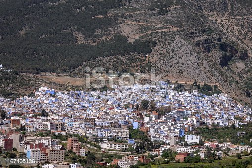 The colourful town of Chefchaoeun, Morocco,North Africa,Nikon D3x
