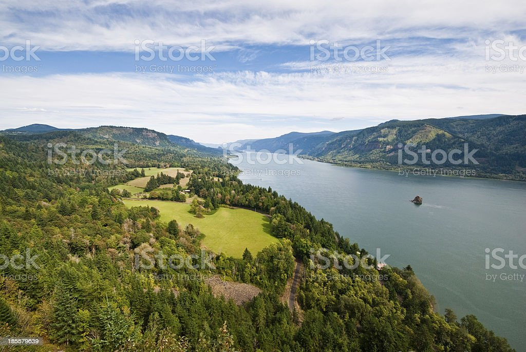 Columbia Gorge from Cape Horn stock photo