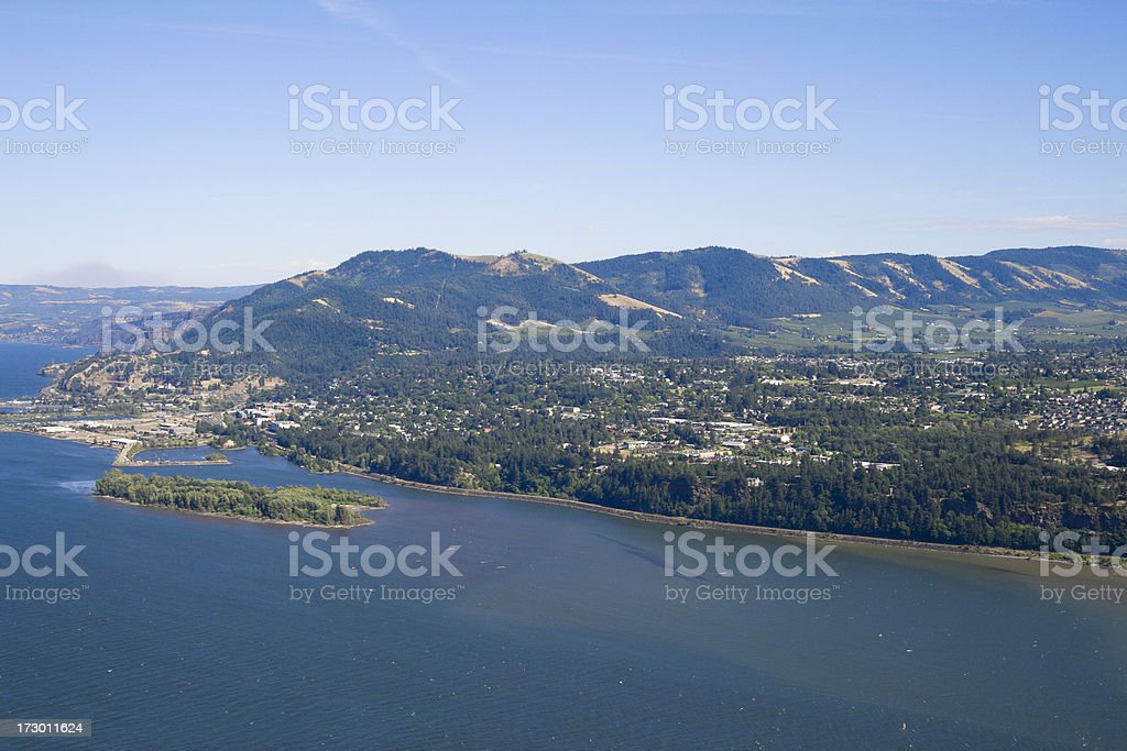The Columbia Gorge royalty-free stock photo