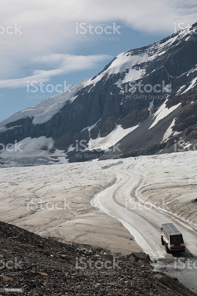 The Columbia Icefield parkway in Canadian Rockies stock photo