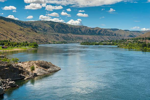 The Columbia River, Washington State stock photo