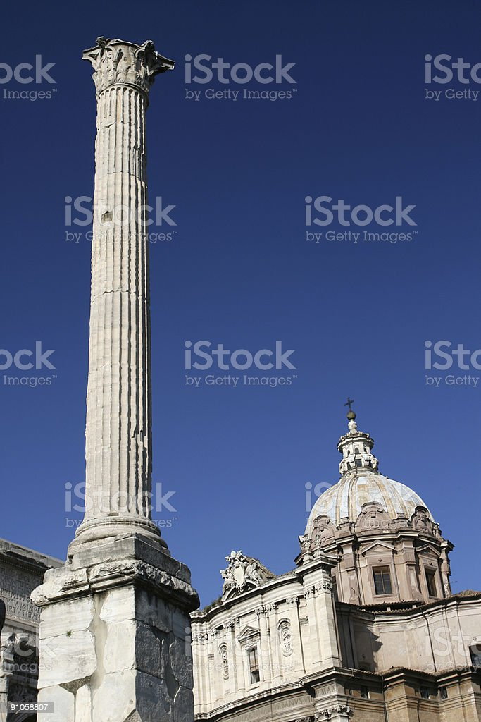 The Column of Phocas royalty-free stock photo