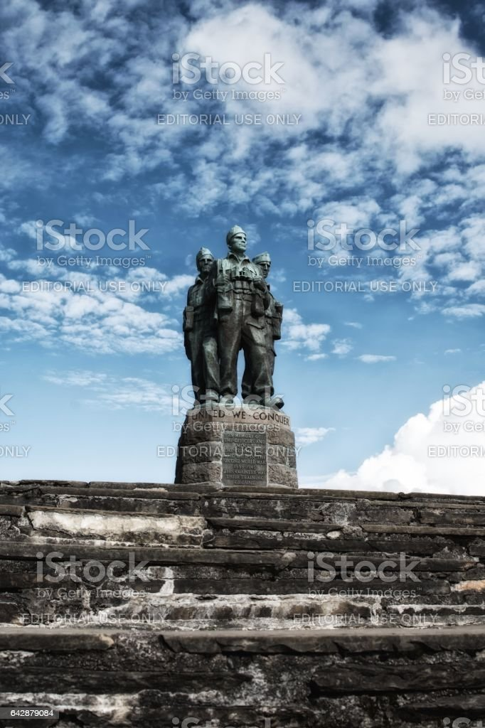 The Commando Memorial, Spean Bridge - Scozia stock photo