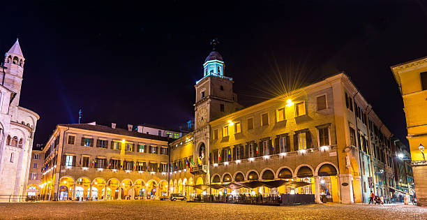 The Communal Palace, the town hall of Modena - Italy The Communal Palace, the town hall of Modena - Italy piazza grande stock pictures, royalty-free photos & images