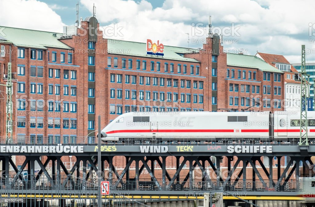 The Company Dole Fresh Fruit Europe OHG is located close to the famous Speicherstadt stock photo