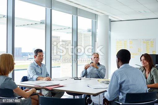 istock The company's idea people of the in action 612387460