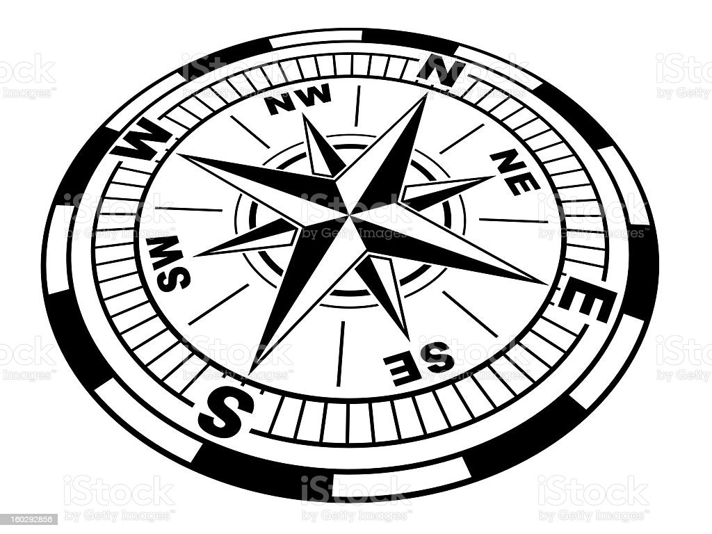 The compass royalty-free stock photo