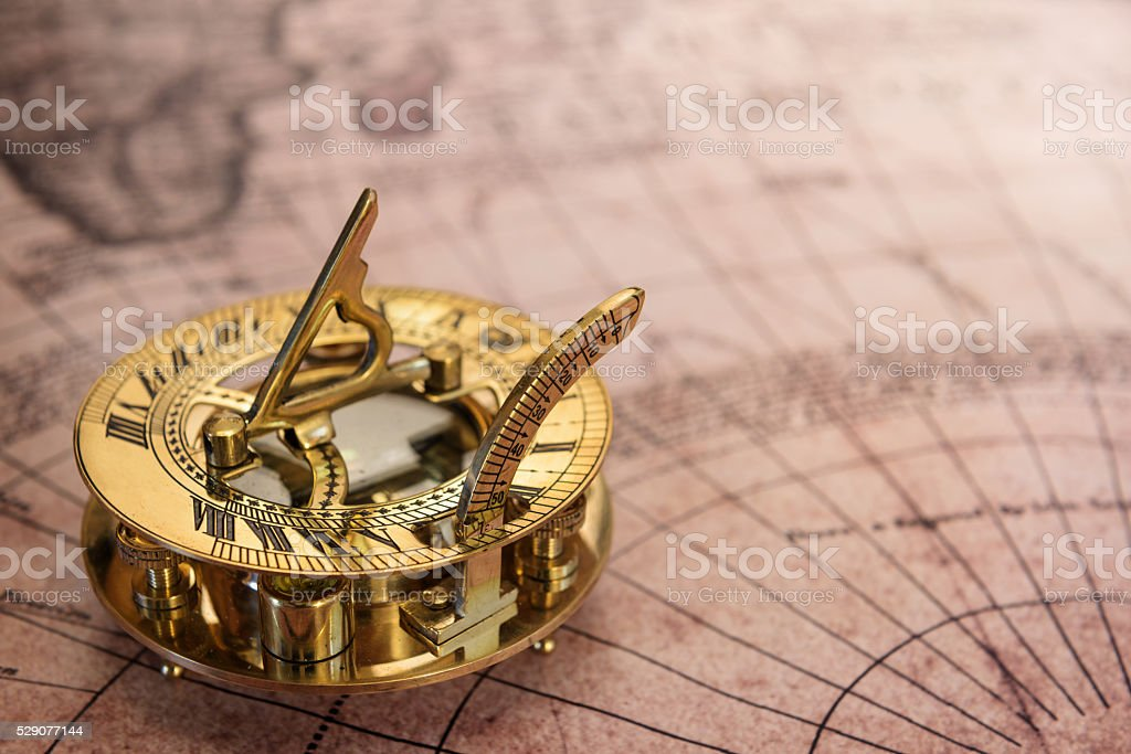 The compass stock photo