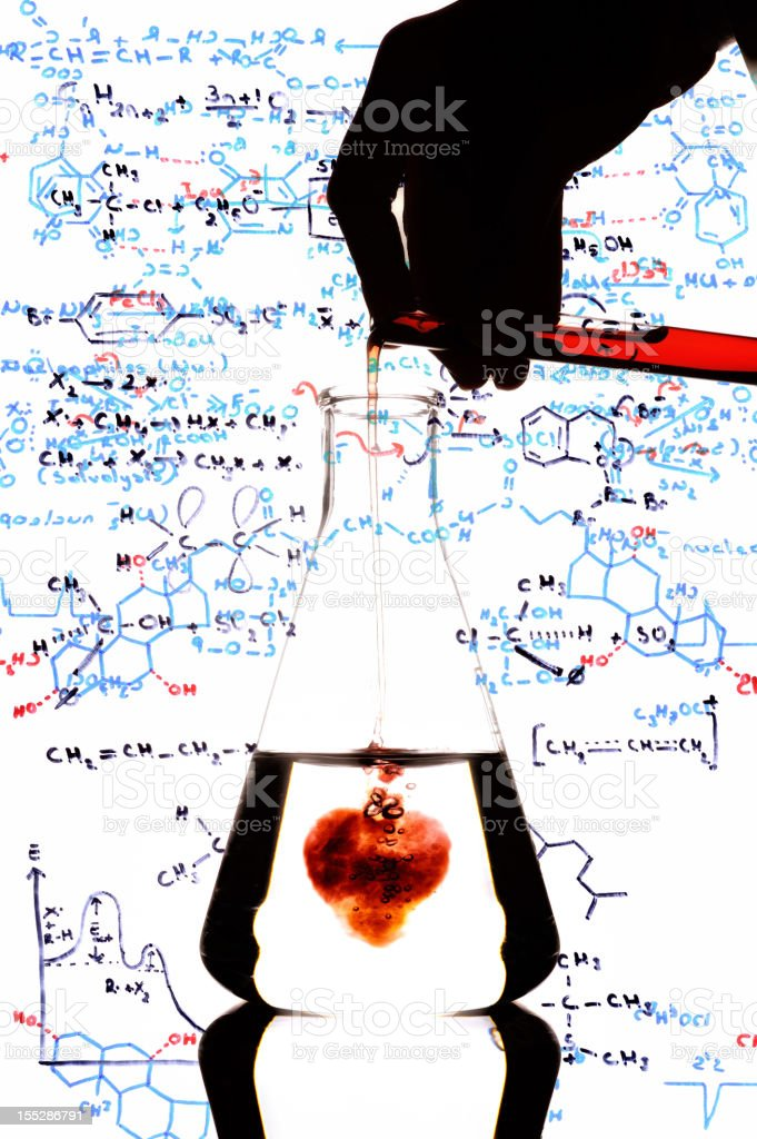 The complex chemistry of love royalty-free stock photo