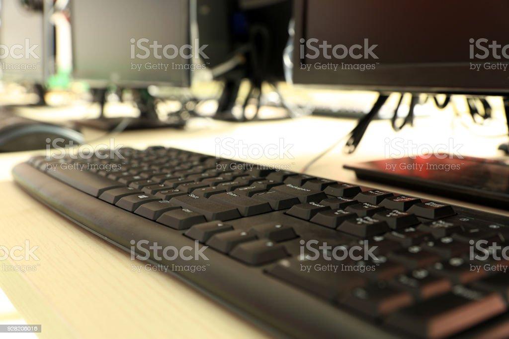 The computer room stock photo