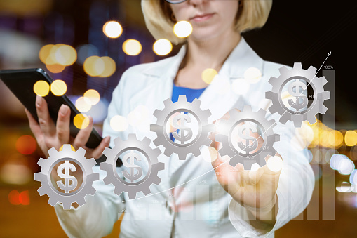 1044507110 istock photo The concept is the analytics and successful financial management. 1061434748