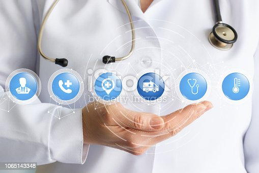 istock The concept is the interaction of different medical trends. 1065143348