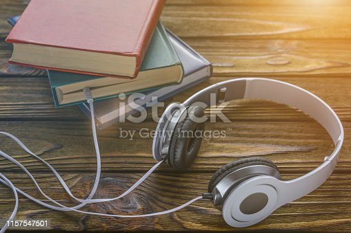 istock The concept is to listen to audiobooks. 1157547501