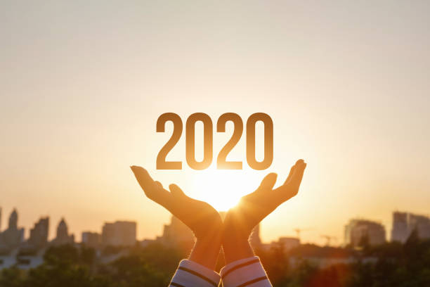 The concept new 2020 year. stock photo