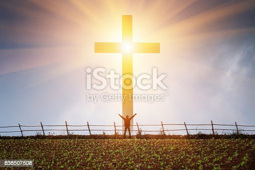 istock The concept of a believer in Christ is a victory. 838507508