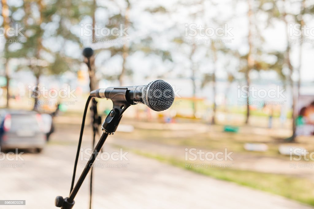The concept of a concert in the open air. royalty-free stock photo
