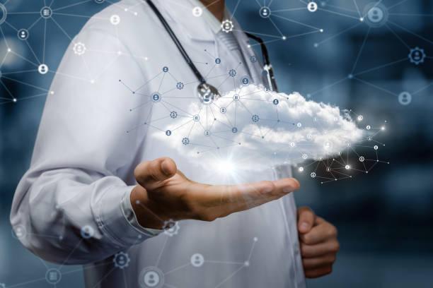 Das Konzept einer Datenwolke in der Medizin. – Foto