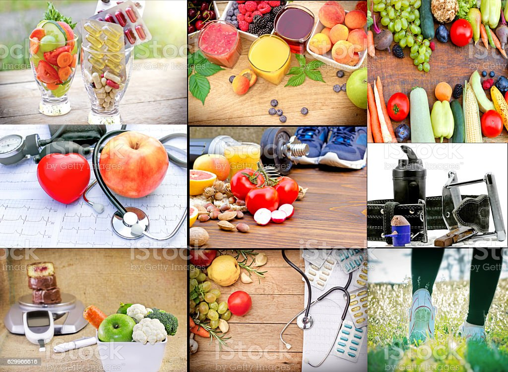 The concept of a healthy lifestyle - healthy leaving stock photo