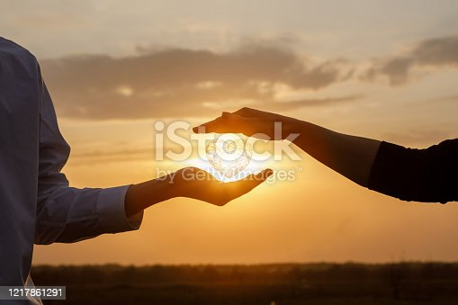 istock The concept of a love relationship between people. 1217861291