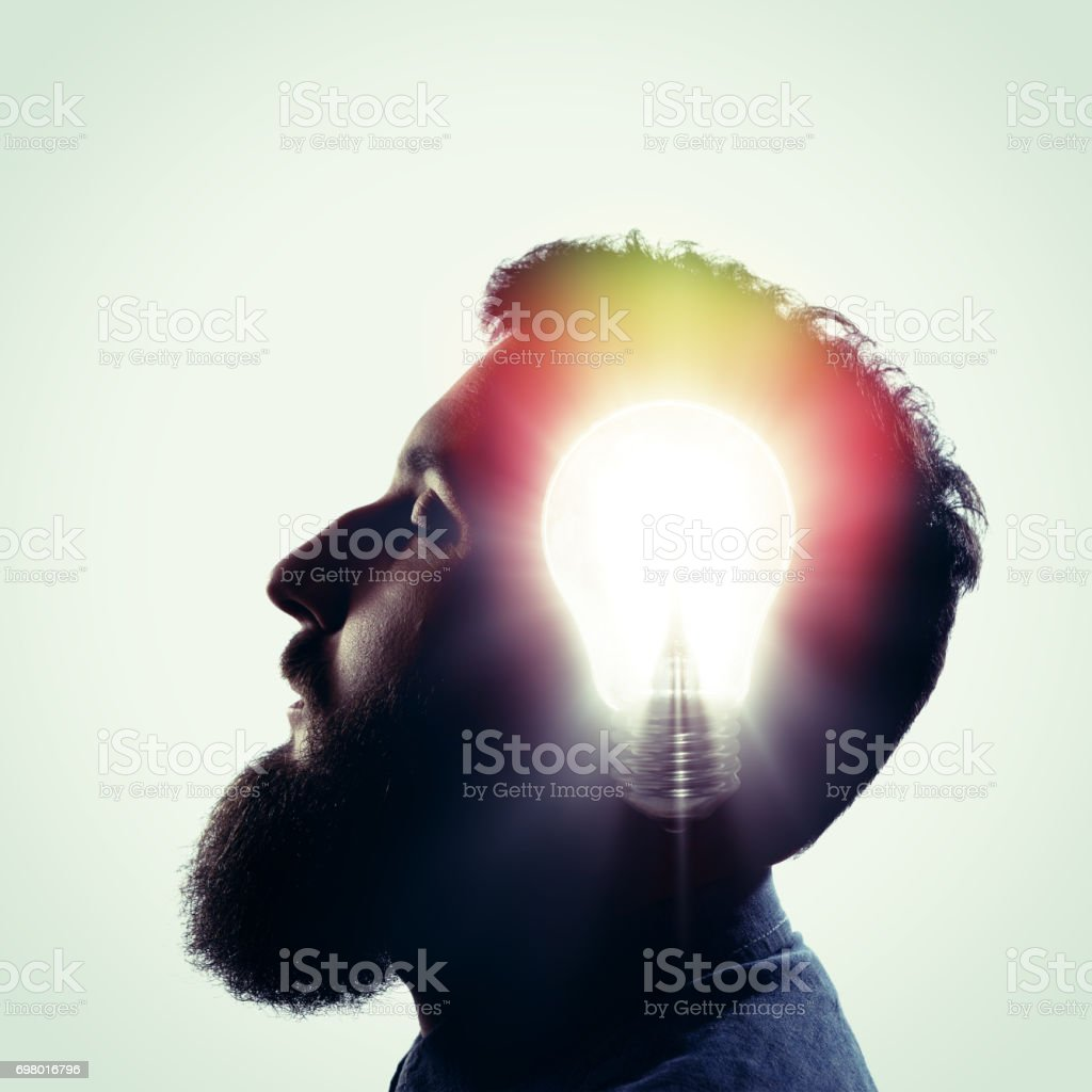 The concept of a new idea. stock photo