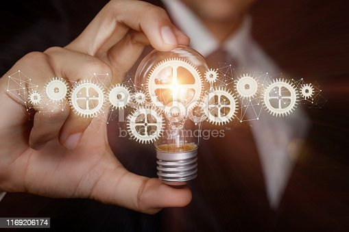 istock The concept of a new innovative ideas in business. 1169206174