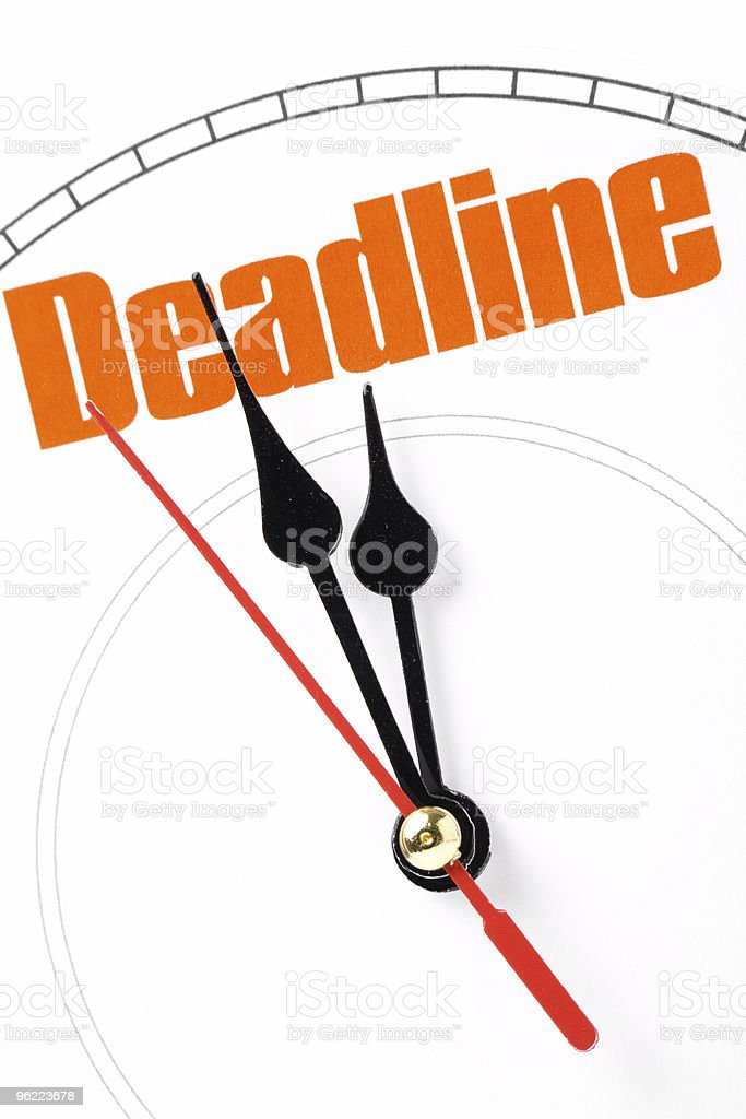 The concept of a strict deadline royalty-free stock photo