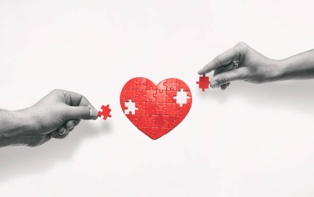 The concept of building love relationships. stock photo