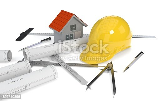 istock The concept of building projects, 3d rendering 859710396