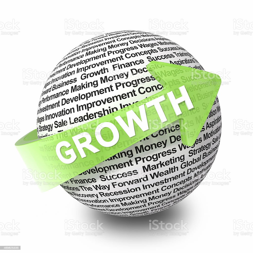 The concept of business growth royalty-free stock photo