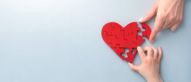 das konzept der nächstenliebe, liebe, spende und helfende hand. internationaler kardiologietag. - scyther5 stock-fotos und bilder