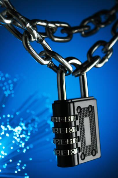 begreppet stängning, skydd. teknik blockchain, kryptering av trafik på internet. - vpn bildbanksfoton och bilder