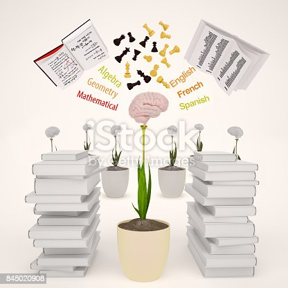 istock The concept of development of mind. 845020908