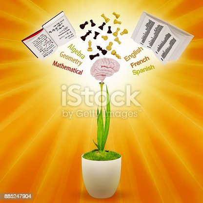istock The concept of development of mind. 885247904