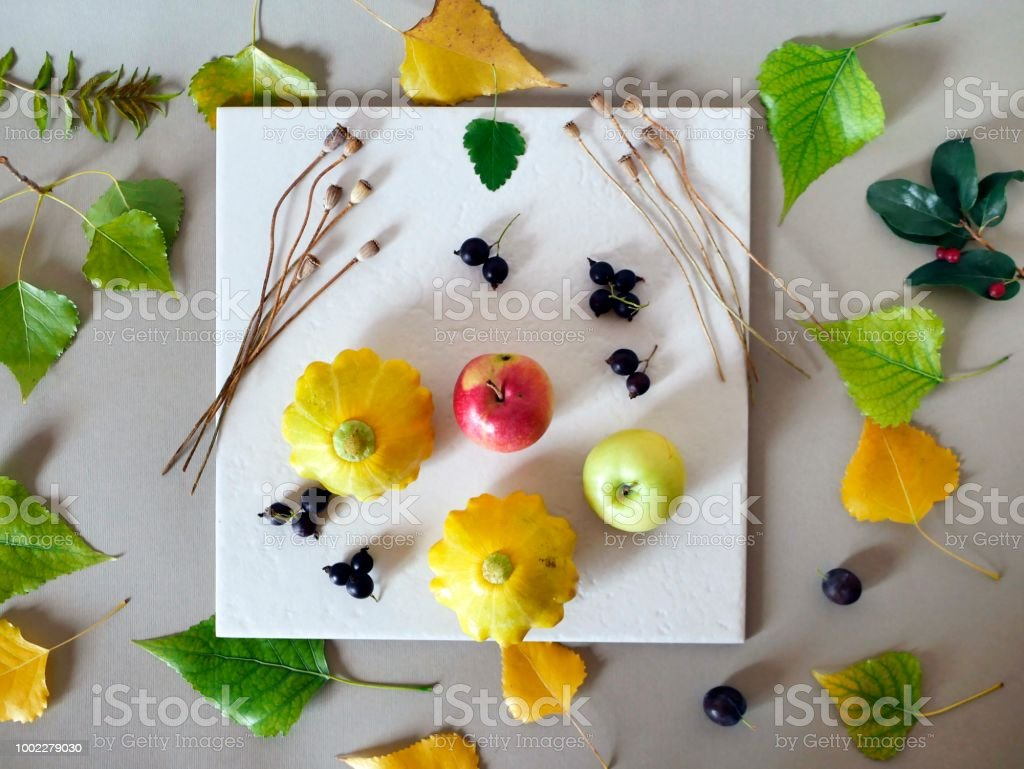 The concept of early autumn stock photo