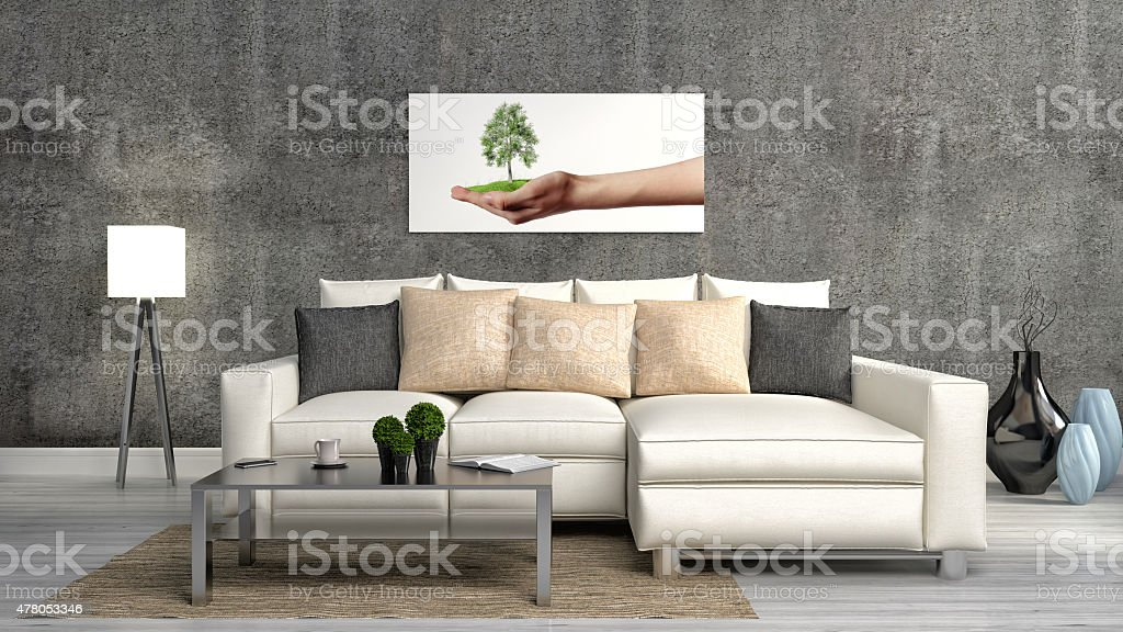 The Concept Of Ecofriendly Interior Sofa Table Stock Photo Download Image Now Istock