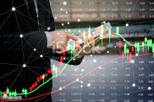 istock The concept of financial investment in the stock market. 1170801975