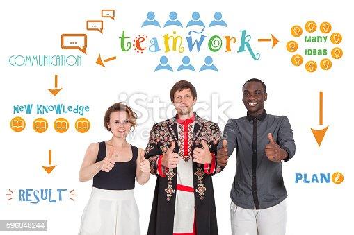 istock The concept of friendship, communication, teamwork, education, recruitment. 596048244