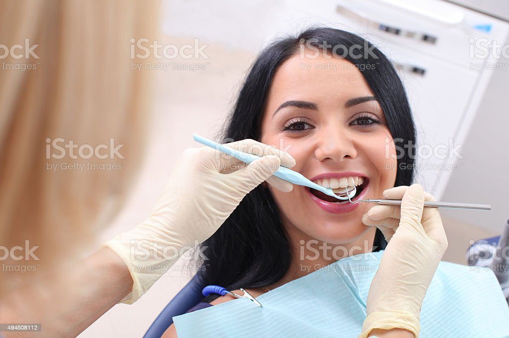 The concept of healthy teeth. stock photo
