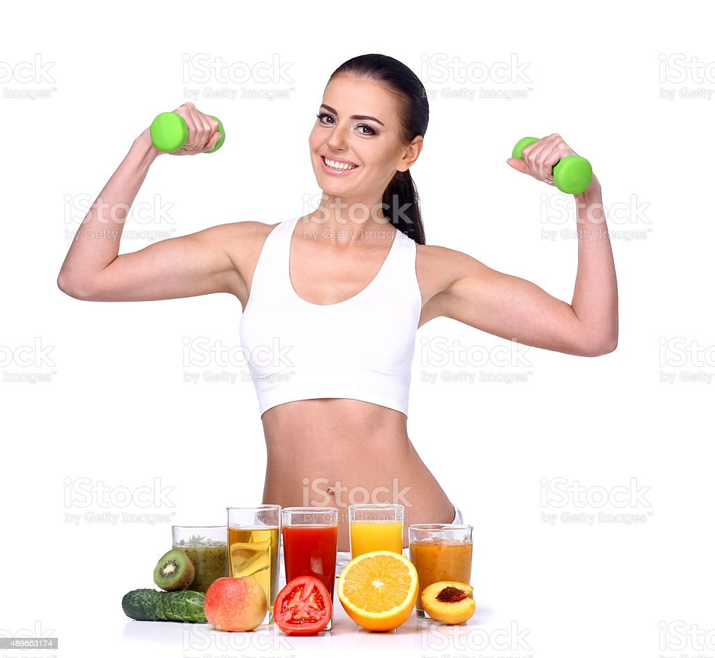 The concept of healthy way of eating. stock photo