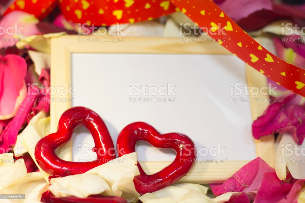 The concept of holidays with a photo frame stock photo